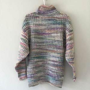 TOPSHOP Space Dye Chunky Turtleneck Sweater